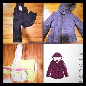 Little girls coats and snowsuit all Sizes: S/6-7